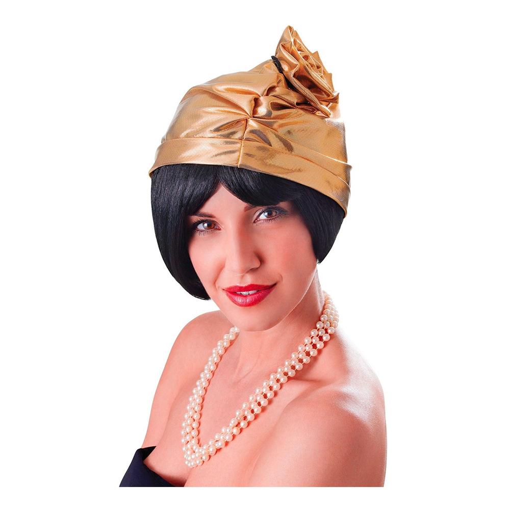20-tals Hatt med Ros Guld - Partykungen.se 9781e75ed6ccd