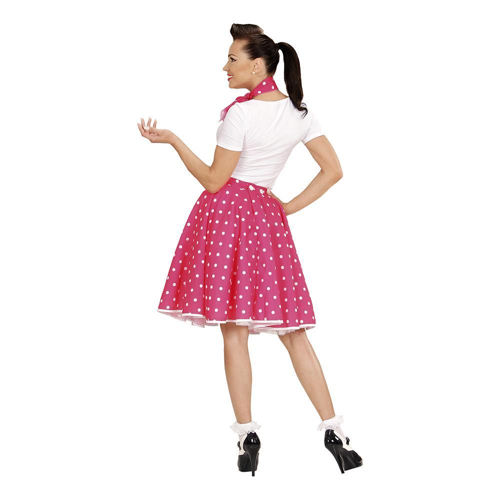 0980b2ec7055 50 er-kjole Lyserød Kostume - Partyking. dk