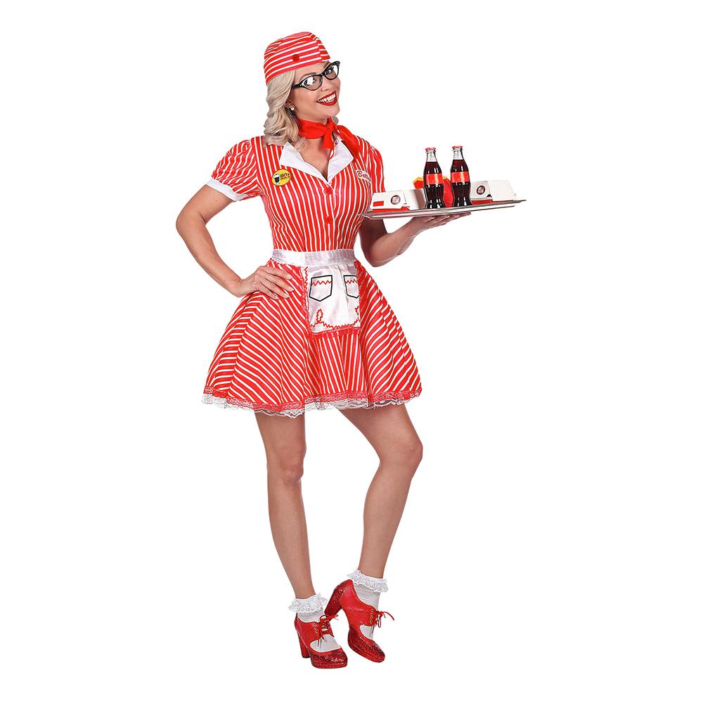 085c5f0f 50-talls Servitrise Kjole Kostyme - Partyking.no