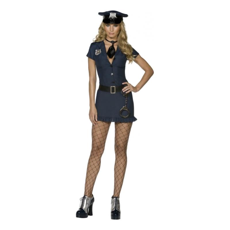 Poliskvinna Maskeraddräkt - Partykungen.se de20127fa83f4