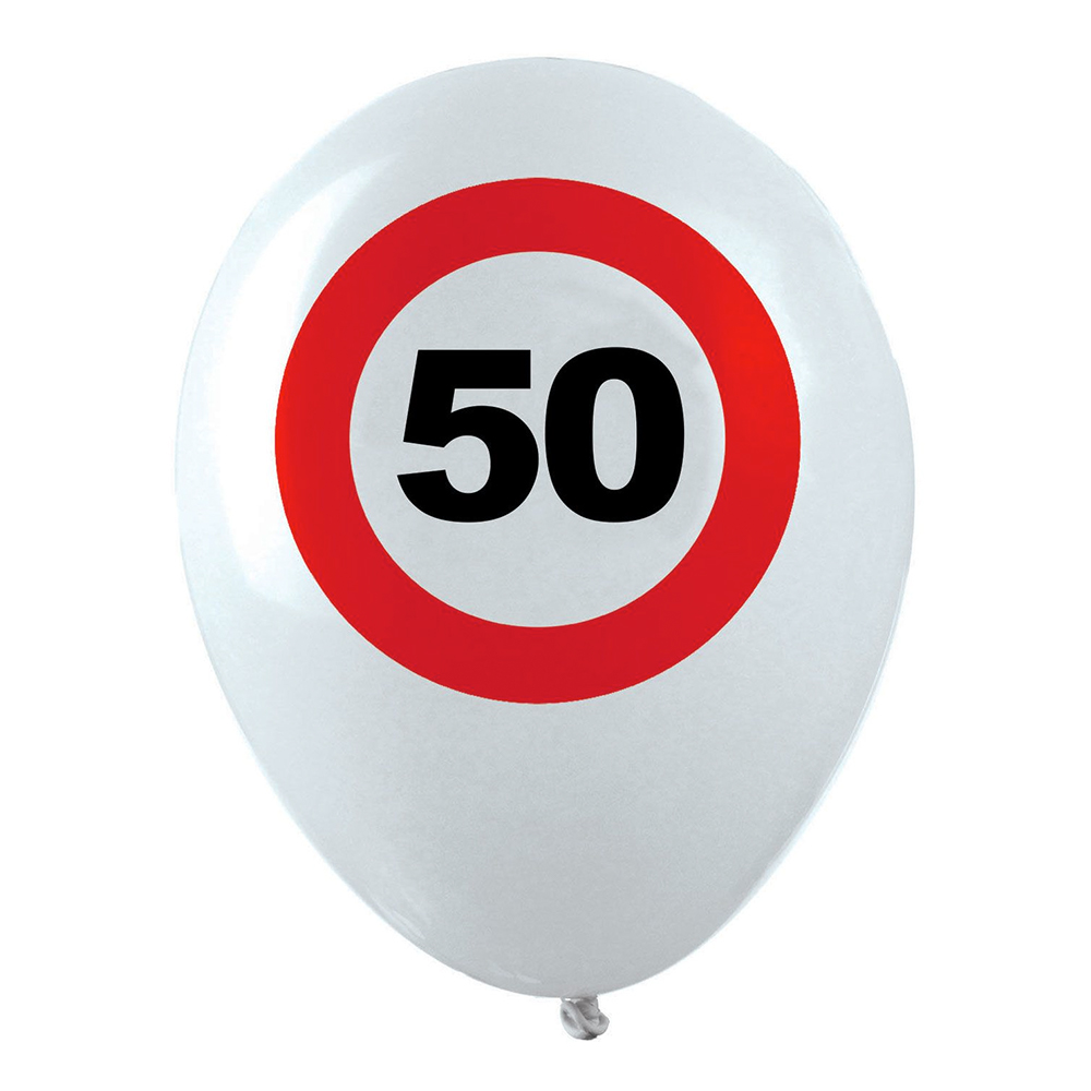 Ballonger Trafikskylt 50