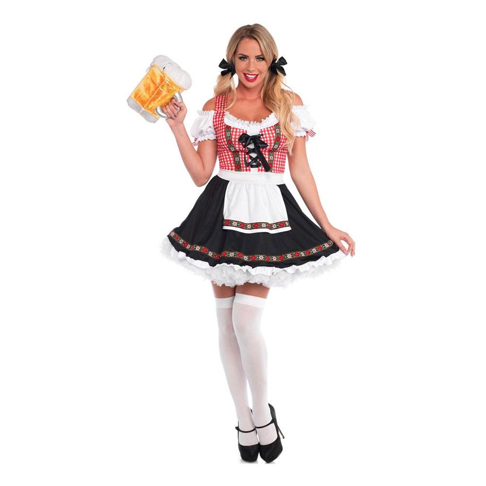 4337ecaf835a Beer Garden Kjole Deluxe Kostume - Partyking. dk