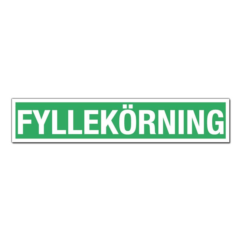 Omtyckta Bildekal Fyllekörning - Partykungen.se PA-71