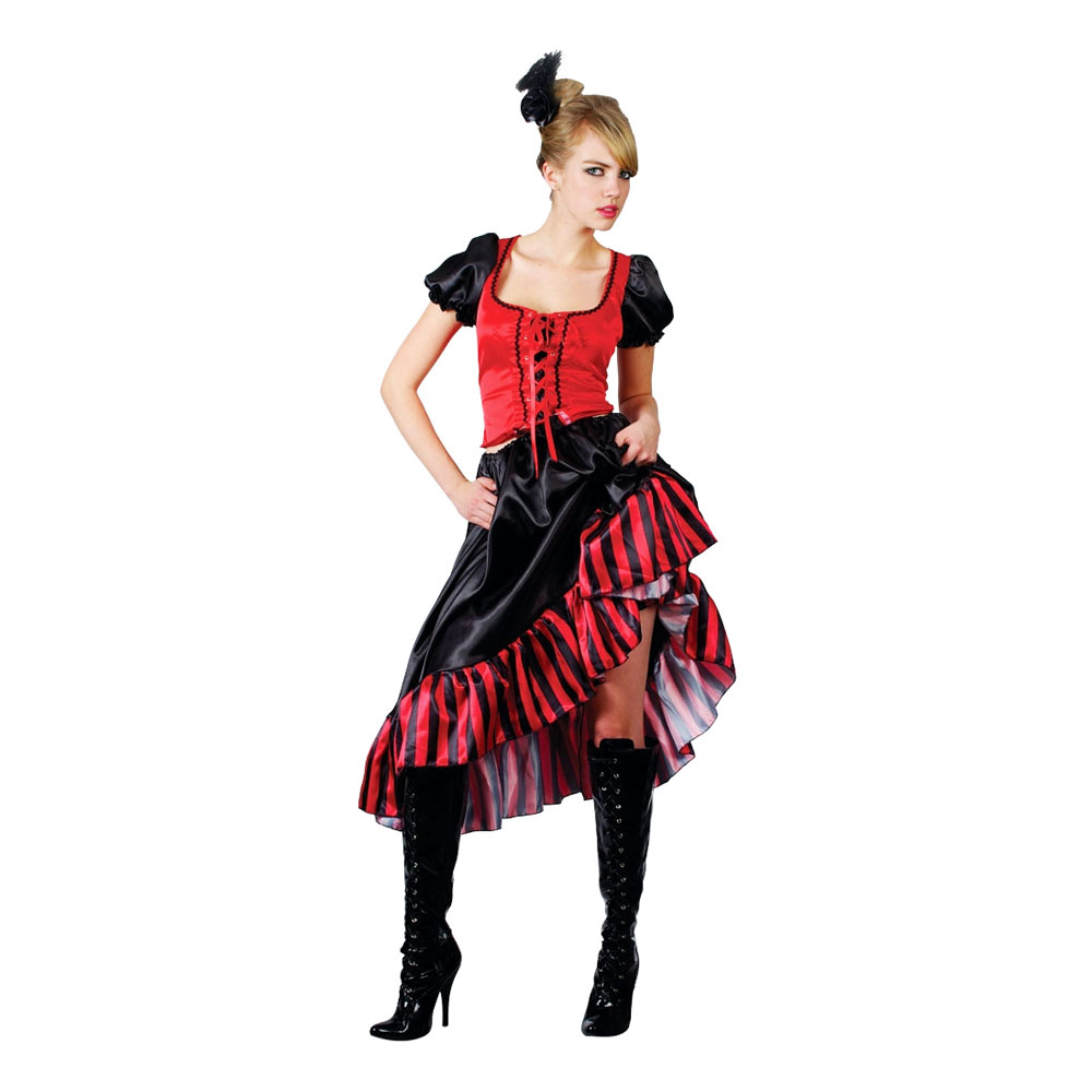 09eb35897afc Cancan Saloongirl Kostume - Partyking. dk