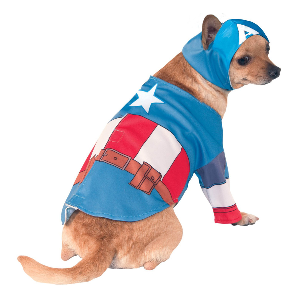 Captain America Hund Maskeraddräkt - Partykungen.se 47ba88b82b262