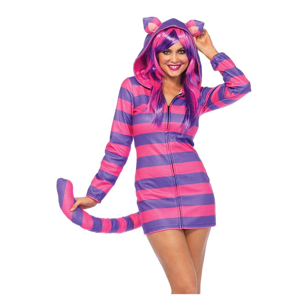 66b0ebe5d2fc Cheshire Kat Kjole Kostume Deluxe - Partyking. dk