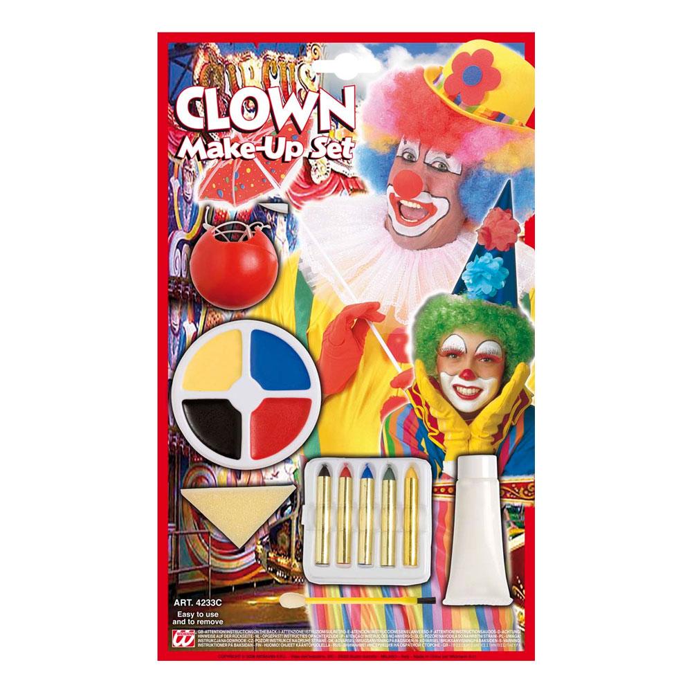 Clown Smink Set - Partykungen.se 403811d2bca59