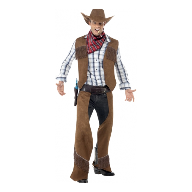 Cowboy Brun Maskeraddräkt - Partykungen.se cabdee7878216