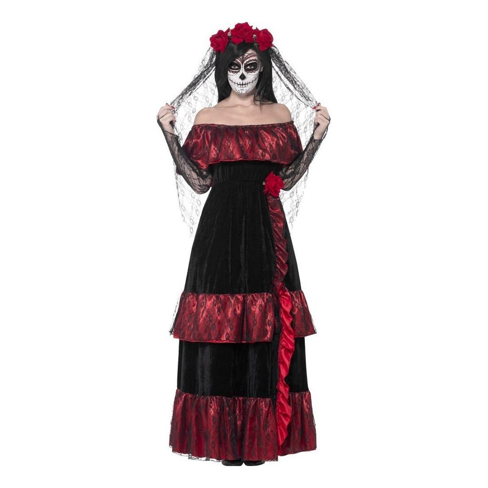 Day of the Dead Brudklänning Maskeraddräkt - Partykungen.se b401864663c22
