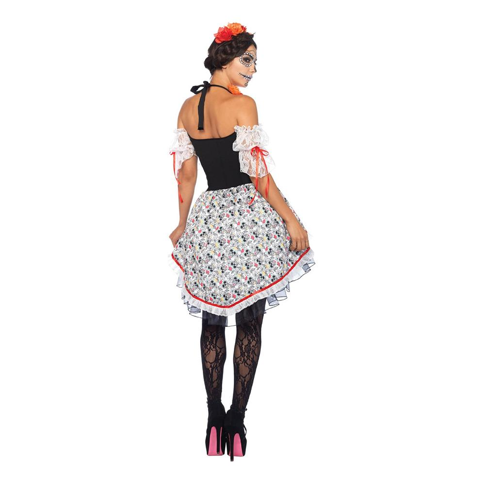 5041f2402461 Day of the Dead Kjole Kostume Deluxe - Partyking. dk