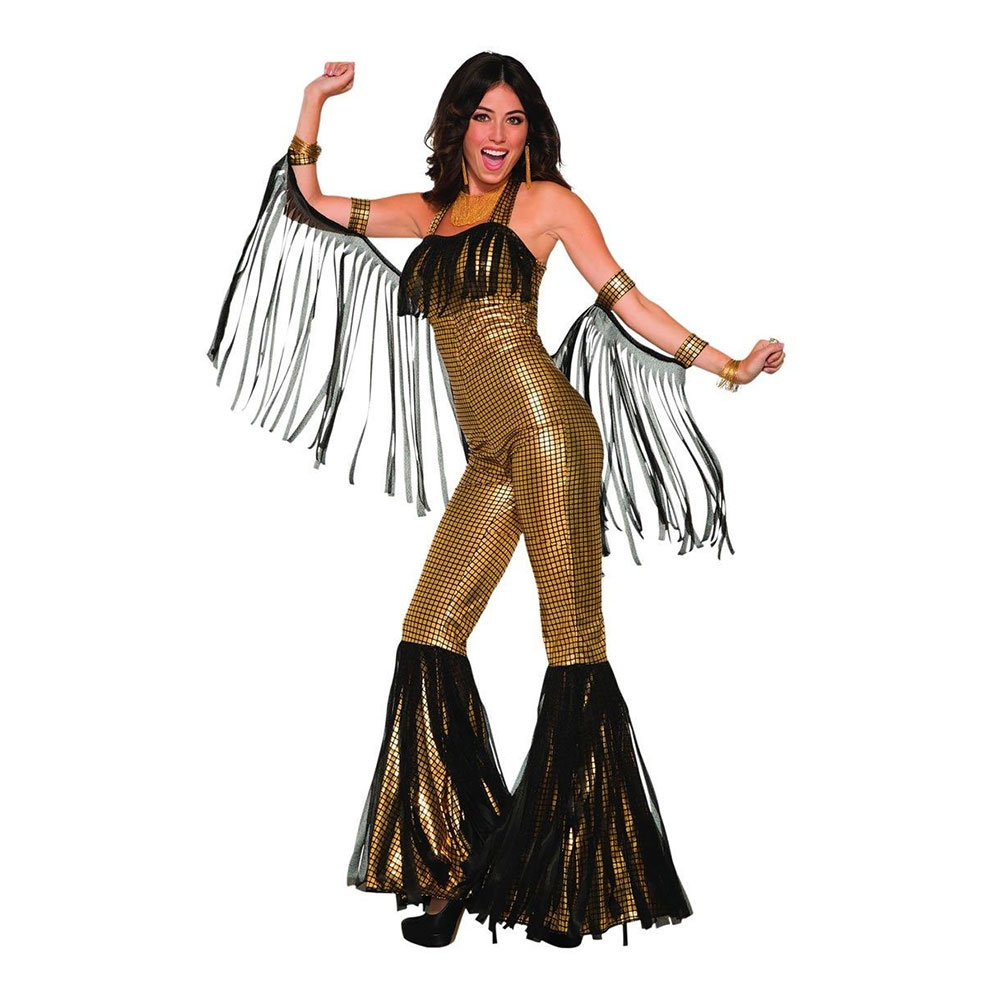 57a89afa Diskodronning Gull Jumpsuit Kostyme - Partyking.no