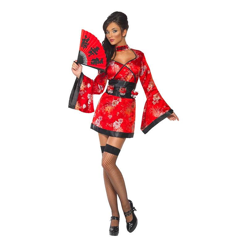 e16b229ab403 Kimono Kjole Kostume - Partyking. dk