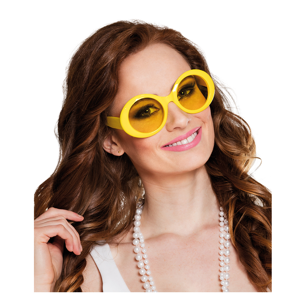 Glasögon Jackie Neongul - Partykungen.se 50cada9b67bf3
