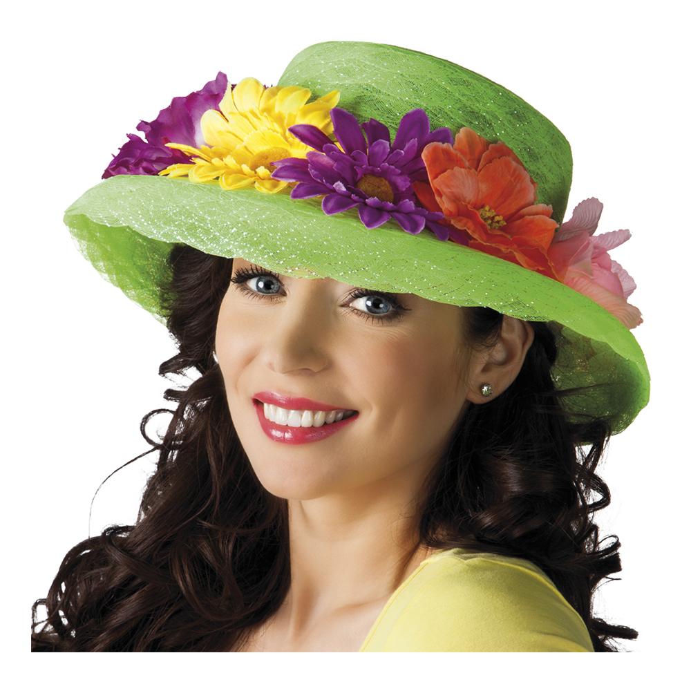 Grön hatt med Blommor - Partykungen.se ef3cc8872b715