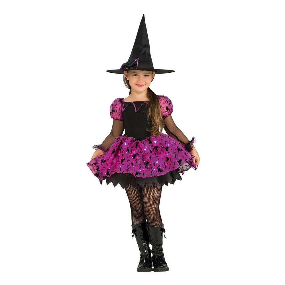 Halloween Häxa LED Barn Maskeraddräkt - Partykungen.se 5b1166c328bbd