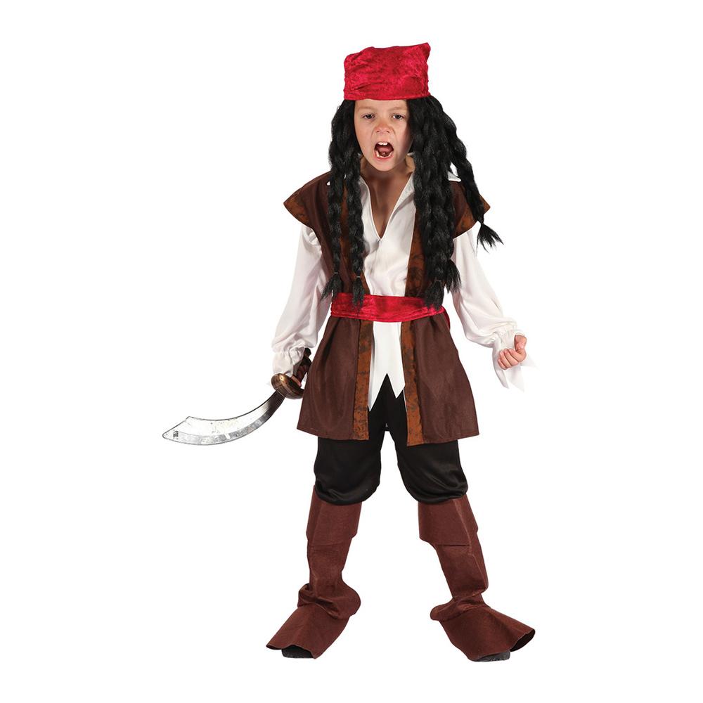 Karibisk Pirat Barn Maskeraddräkt - Partykungen.se 6dda09797d4e4