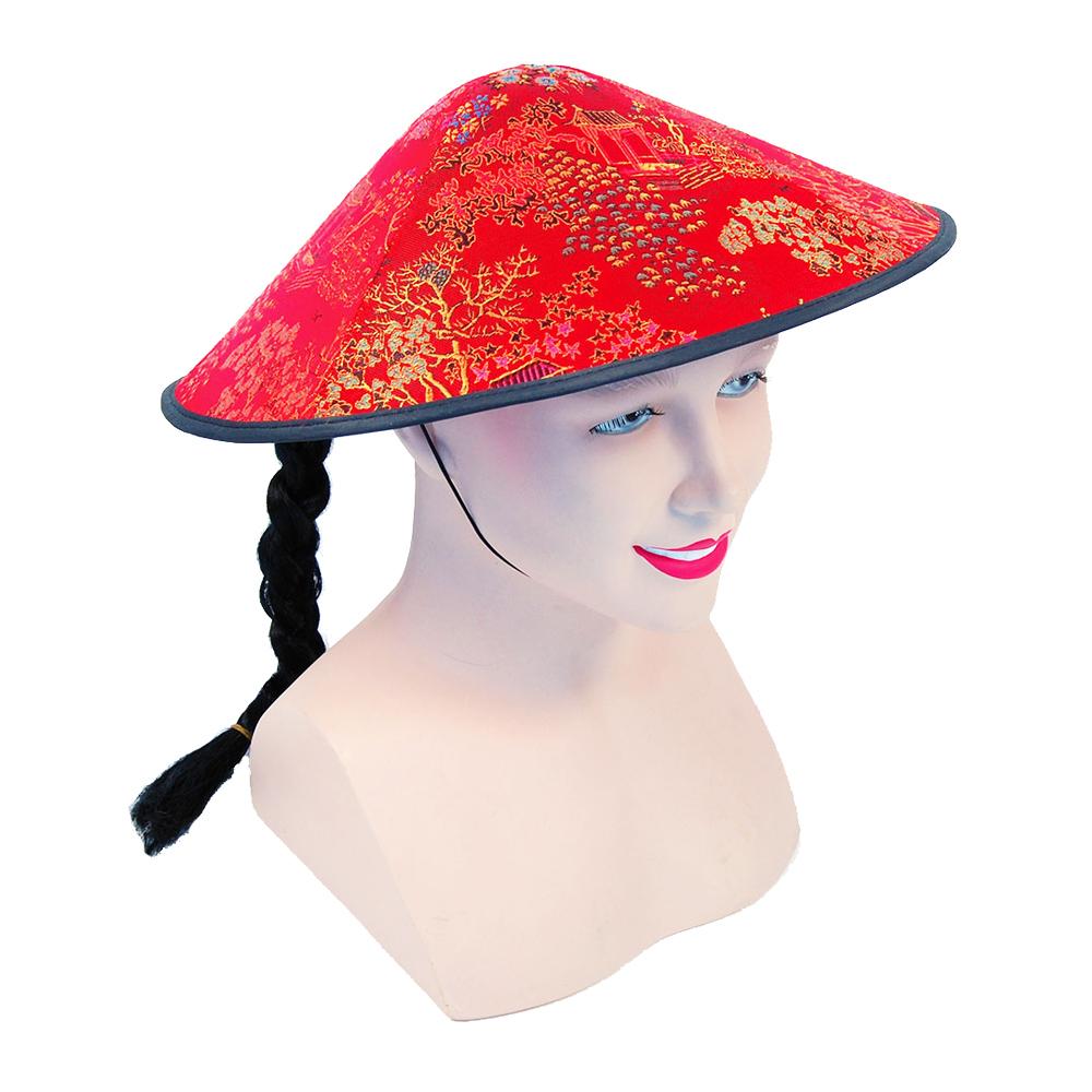 Kinesisk Hatt med Fläta - Partykungen.se 056cc407cb01c