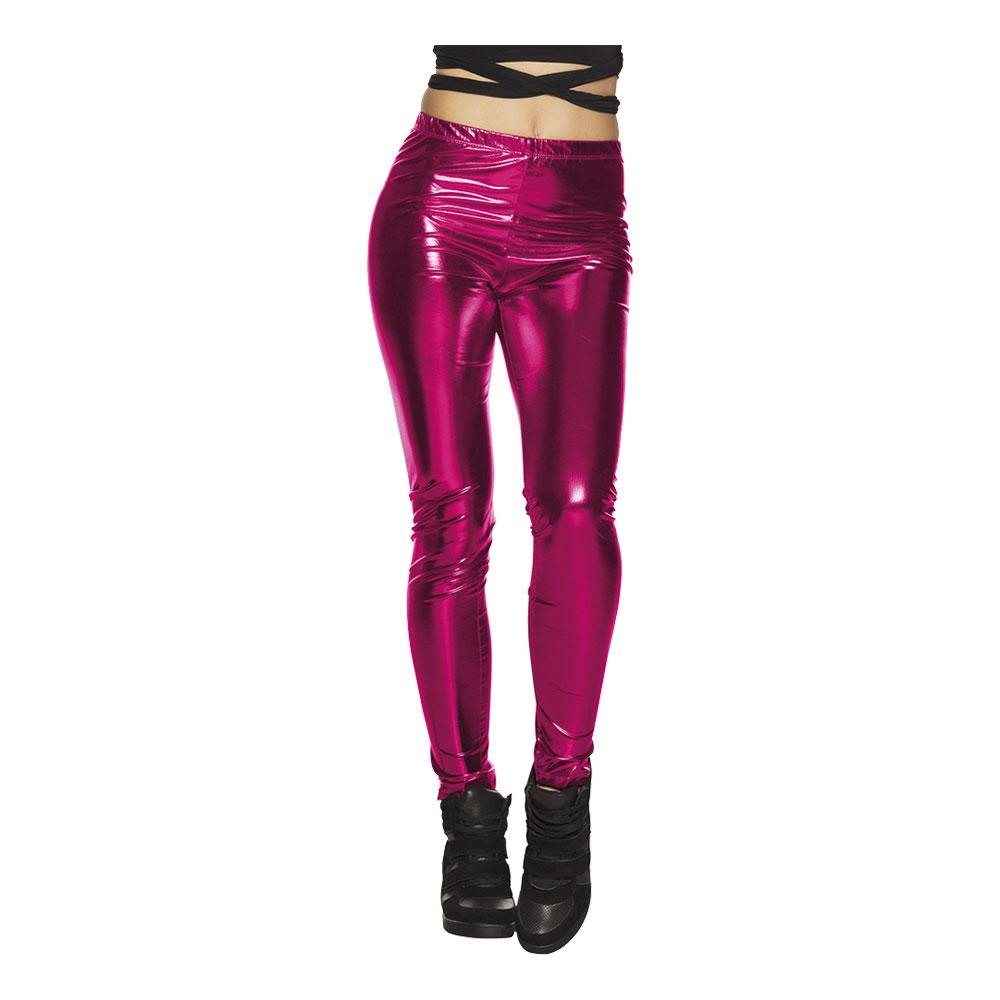 76d2d87f Leggings Metallic Rosa - Partykungen.se