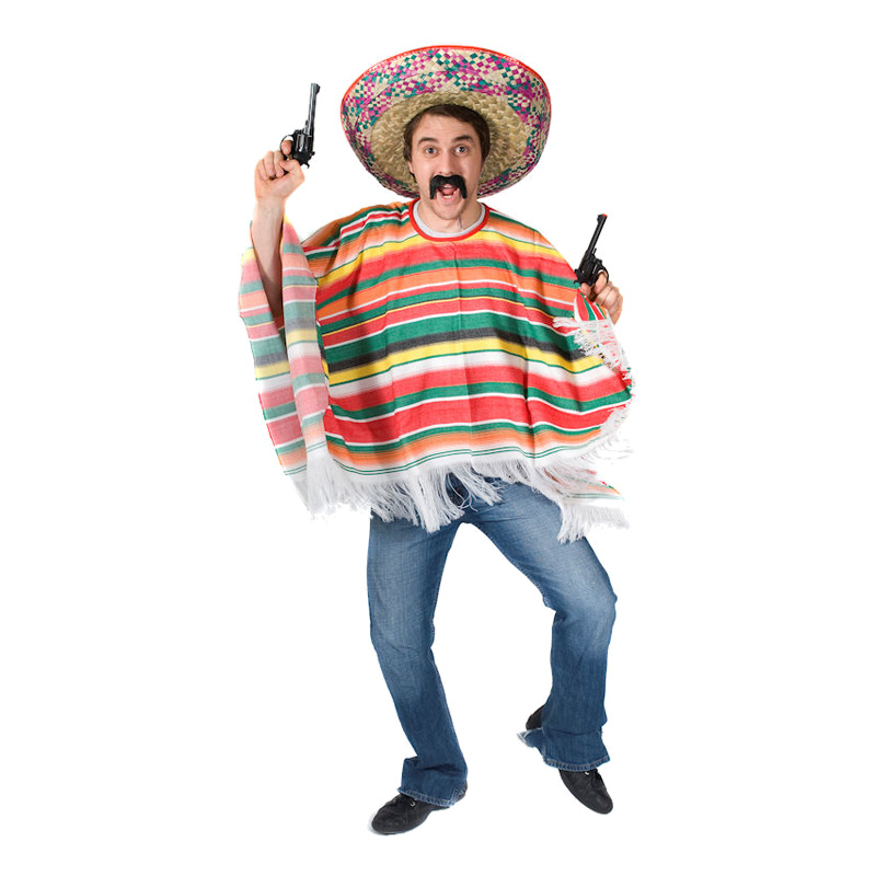 Mexikansk Poncho Maskeraddräkt - Partykungen.se f396f3a274aab