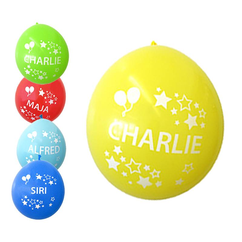 ballonger med namn