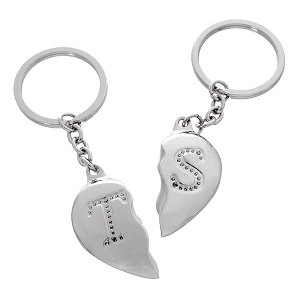 Nyckelring Halvt Hjärta med Bokstav - Partykungen.se 9768ed3868d5a