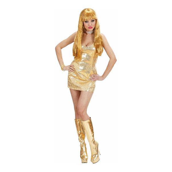 7d8e55171dd1 Paljettklänning Guld Maskeraddräkt - Partykungen.se