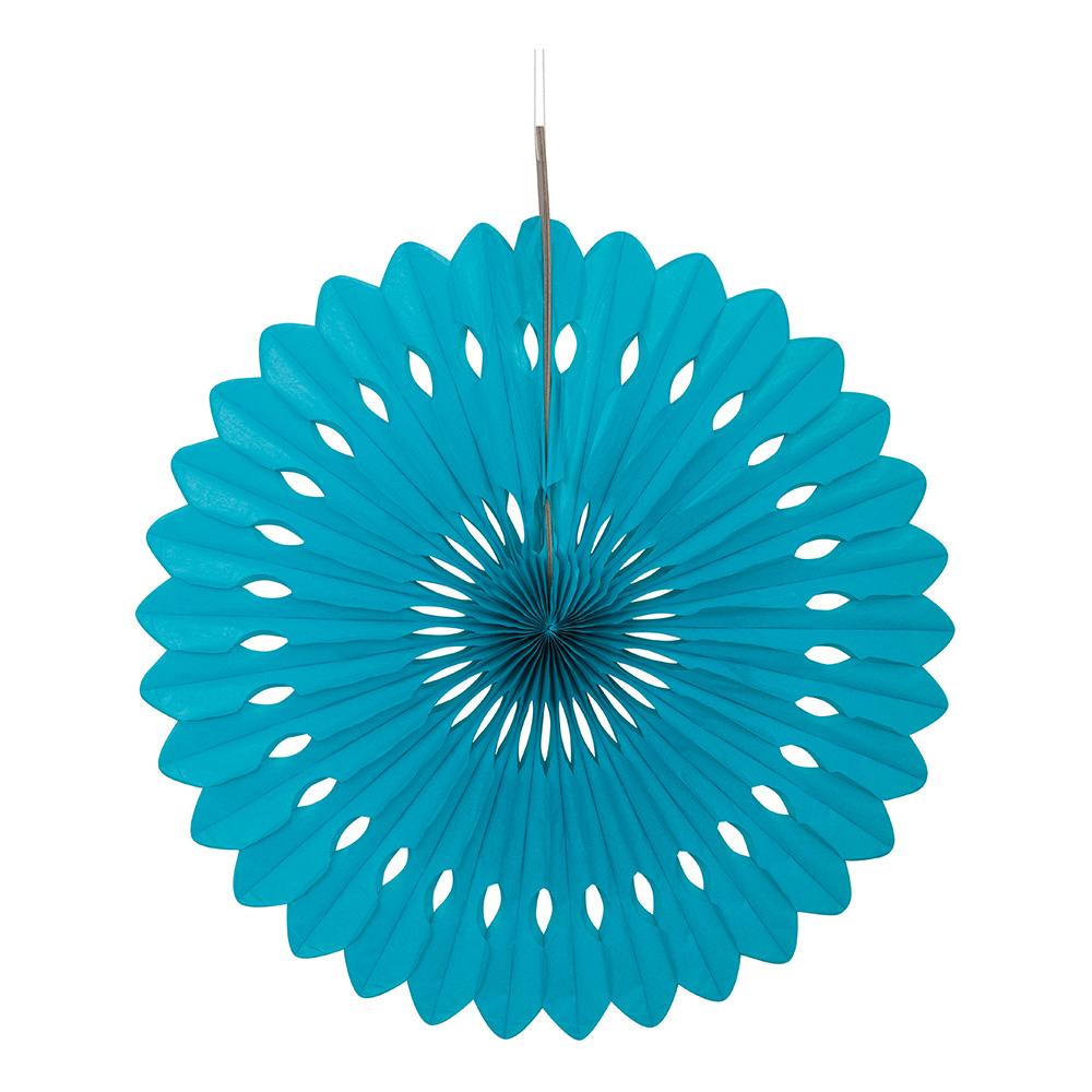 Papirvifte turkis h ngende dekoration partyking dk for Dekoration turkis