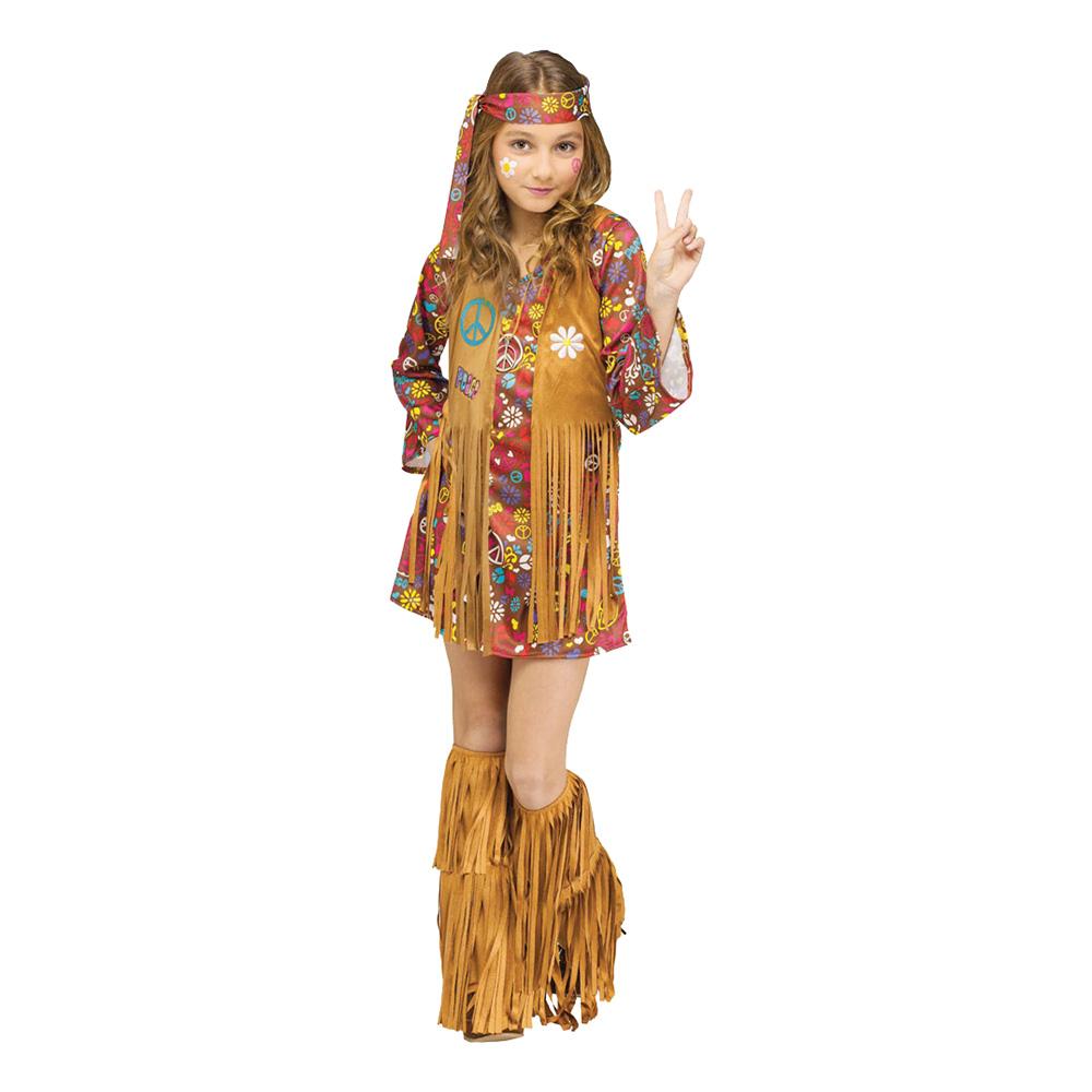 26f1e734ae4c Peace & Love Hippie Barn Maskeraddräkt - Partykungen.se