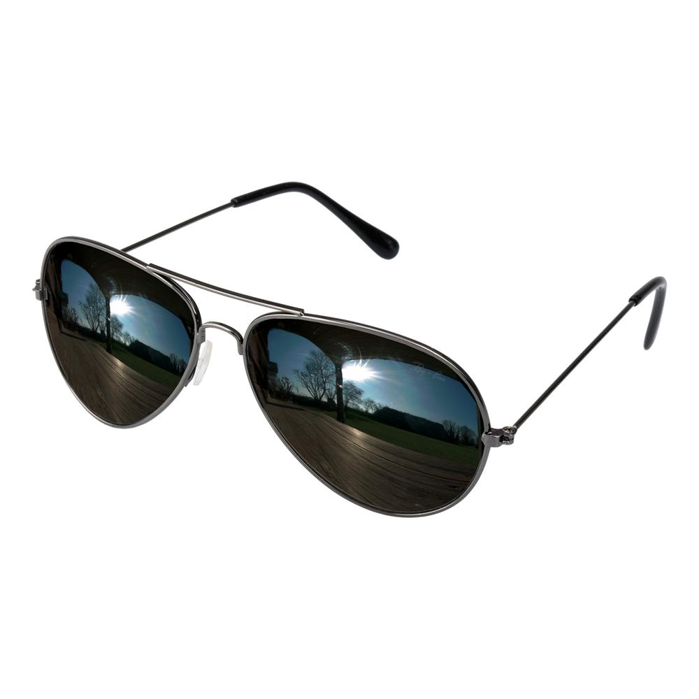 Pilotglasögon med Spegelglas - Partykungen.se 47b8270e9396c