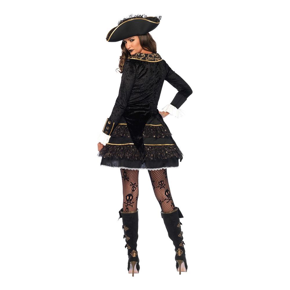 Dam Pirat Kapten Maskeraddräkt Small Deluxe BQrshxtCd