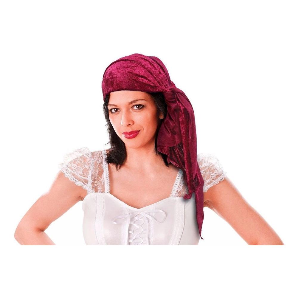 Piratbandana Röd Sammet - Partykungen.se 98b37176a04c9