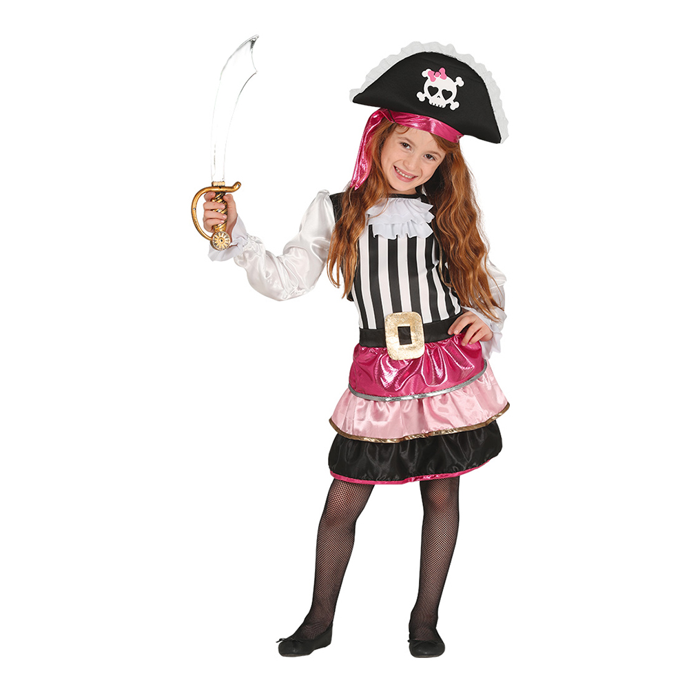 Piratklänning Barn Maskeraddräkt - Partykungen.se 01d5a15222f41