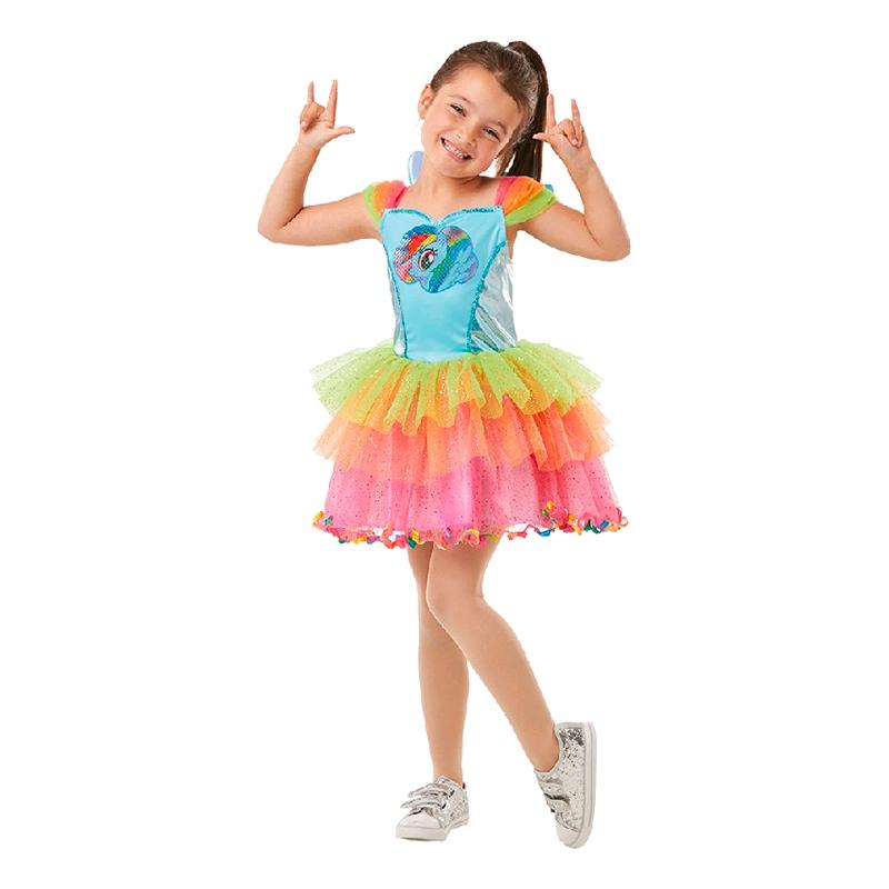 Rainbow Dash Klänning Barn Maskeraddräkt - Partykungen.se f3219cf3657b8