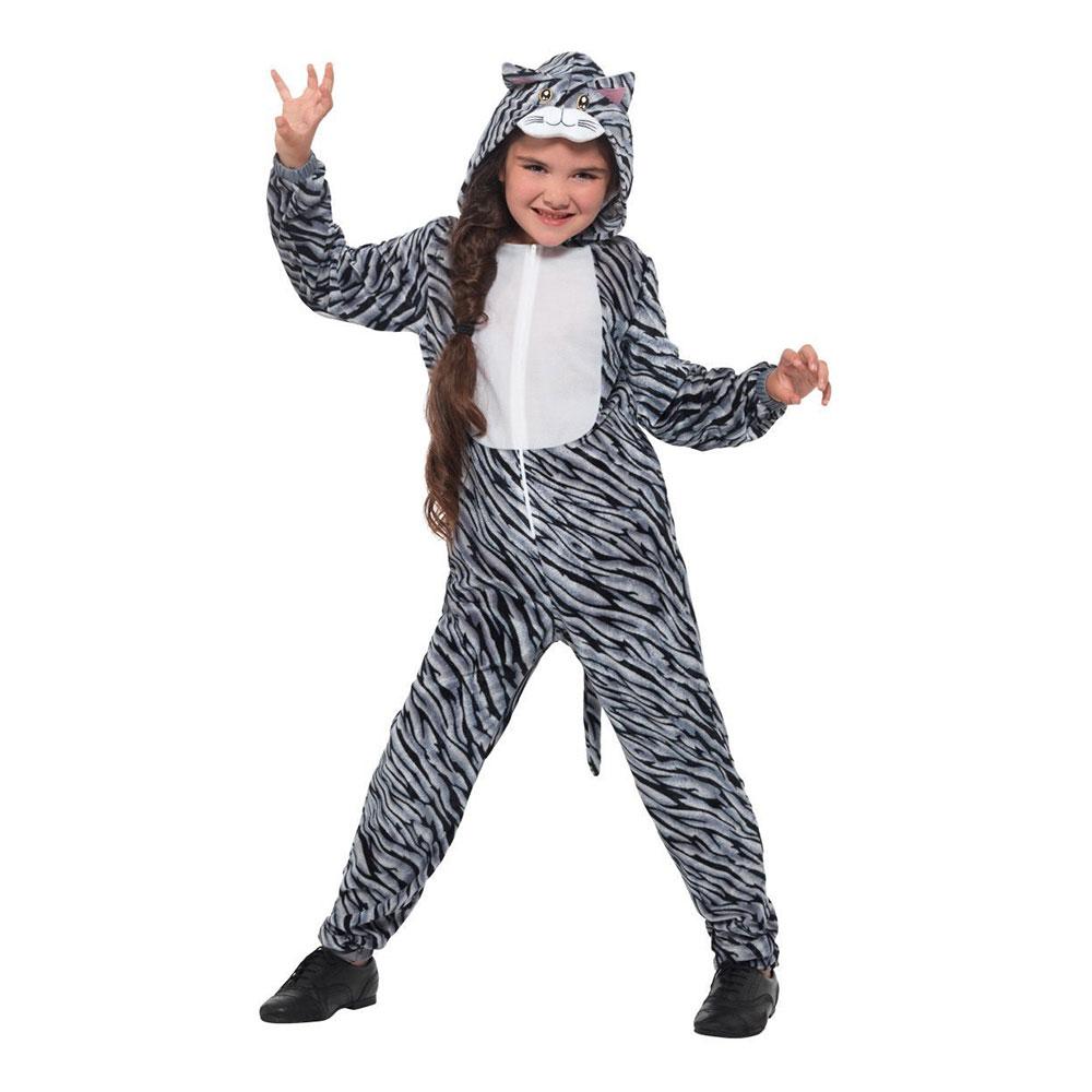 Randig Katt Barn Maskeraddräkt - Partykungen.se 5597f5d6935e4
