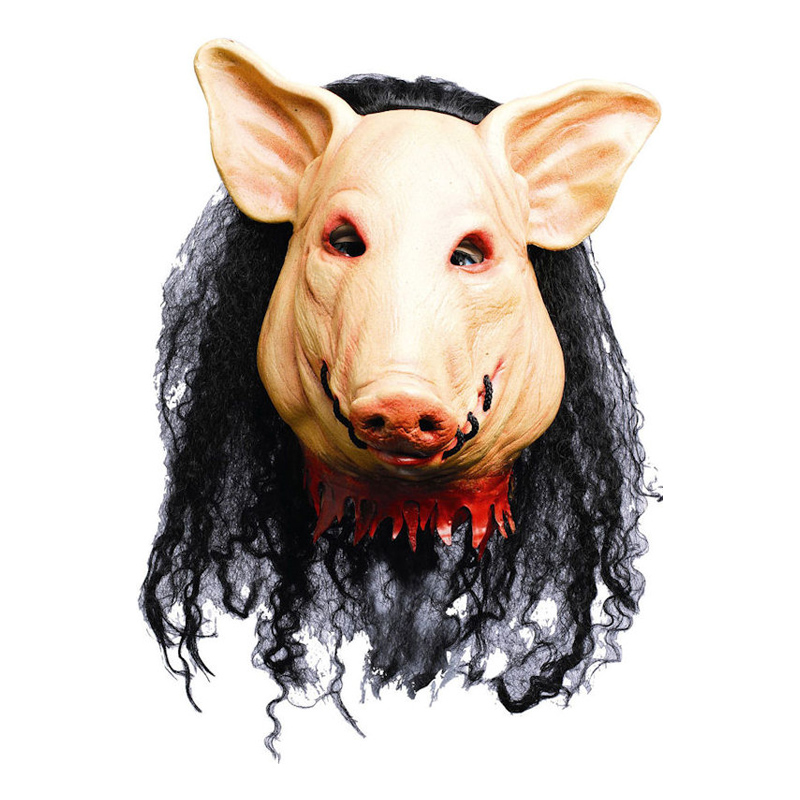 Saw Pig Deluxe Mask - Partykungen.se 55ad1385da2aa