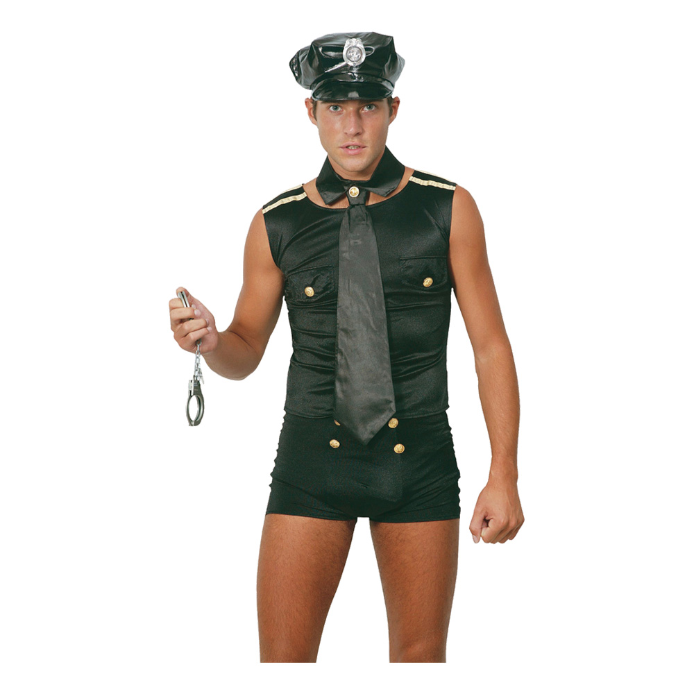 Polisman med Shorts Maskeraddräkt - Partykungen.se 5d284793abc59