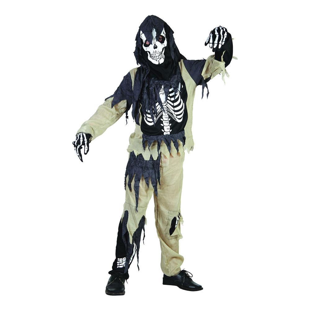 halloween kostym skelett
