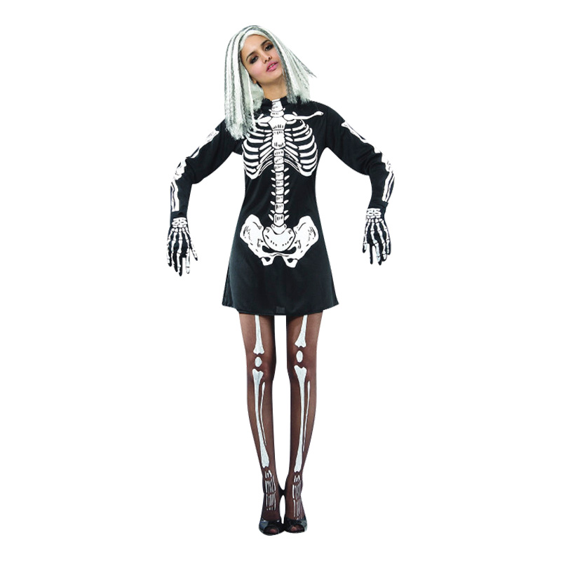 3d8affcf38af Skelettklänning Maskeraddräkt - Partykungen.se