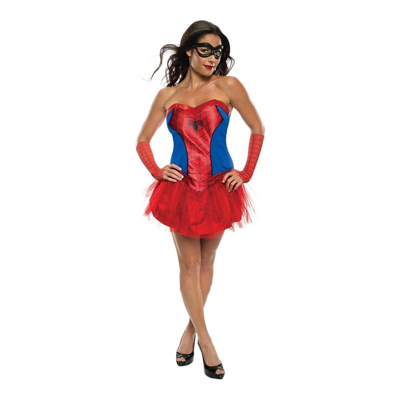 Spider-Girl med Kjol Maskeraddräkt - Partykungen.se d2a0081a9748e