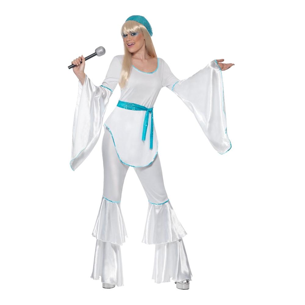 24857a29 Super Trooper Dame Hvit Kostyme - Partyking.no