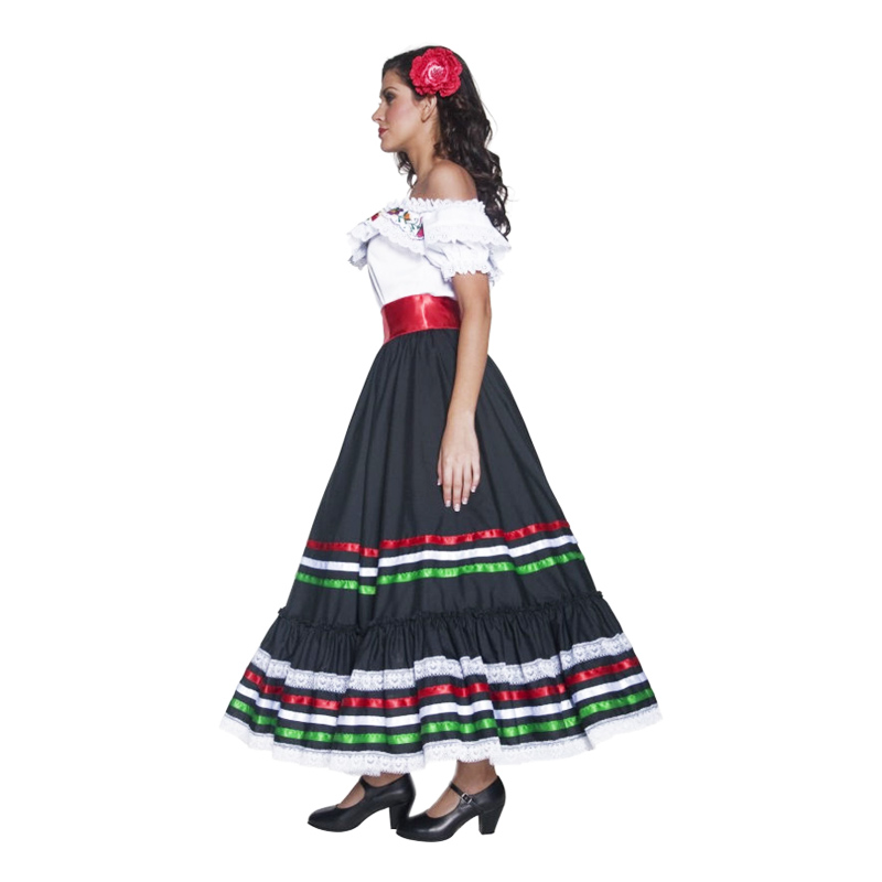 Partyking Traditionel Dk Pige Mexicansk Kostume rtXCwqr