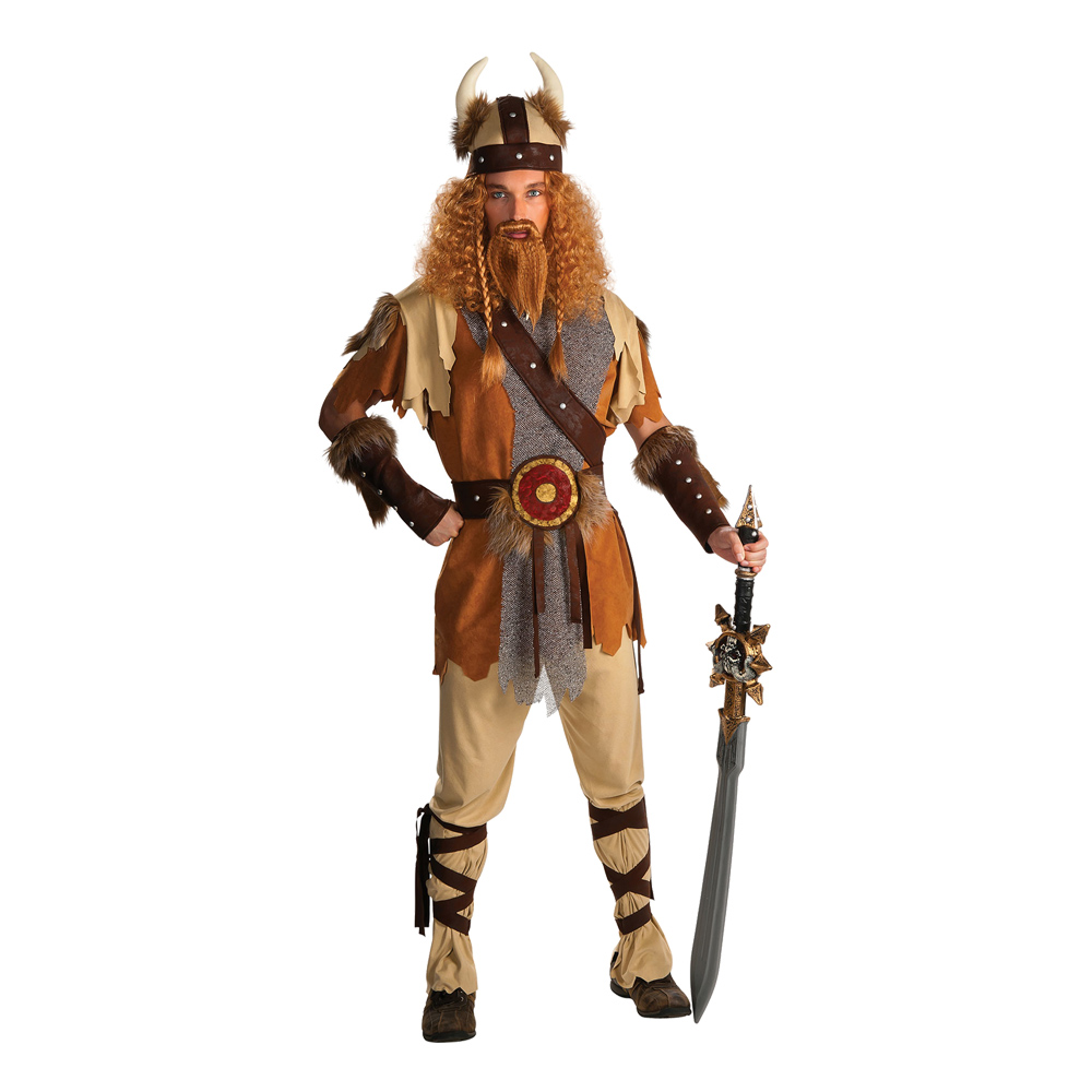 Viking Krigare Maskeraddräkt - Partykungen.se 65937752fb917