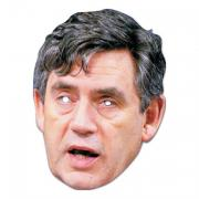 Gordon Brown Pappmask