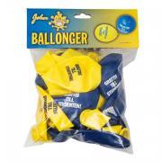 Studentballonger Gul/Blå