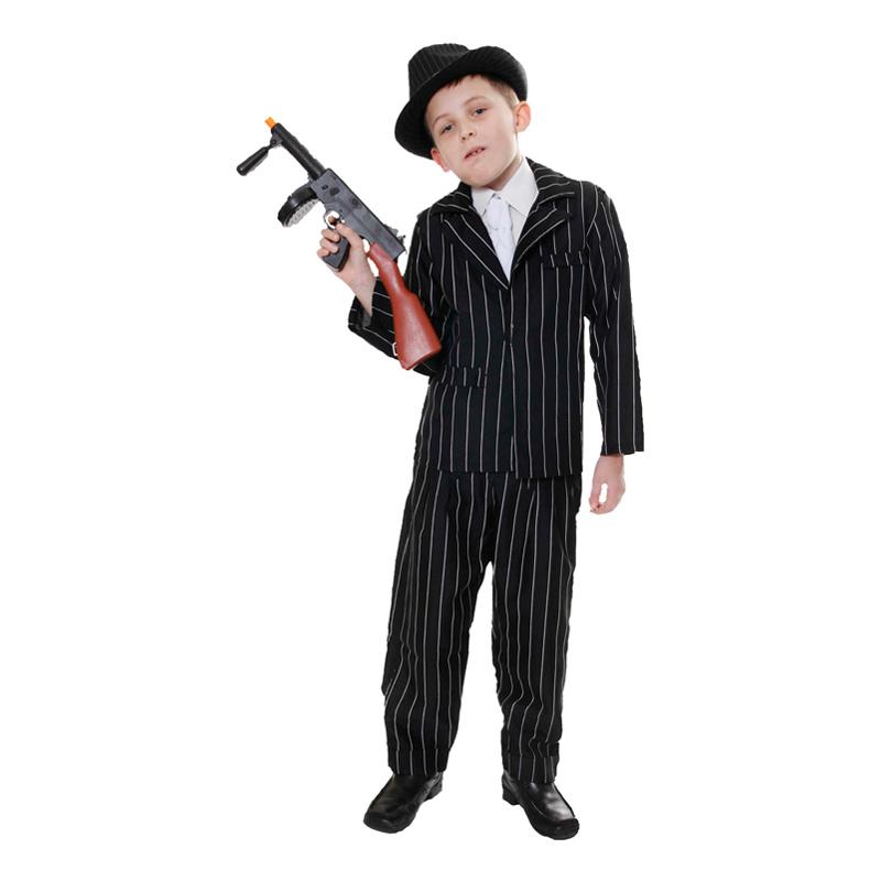 20-tals Gangster Barn Maskeraddräkt - Small