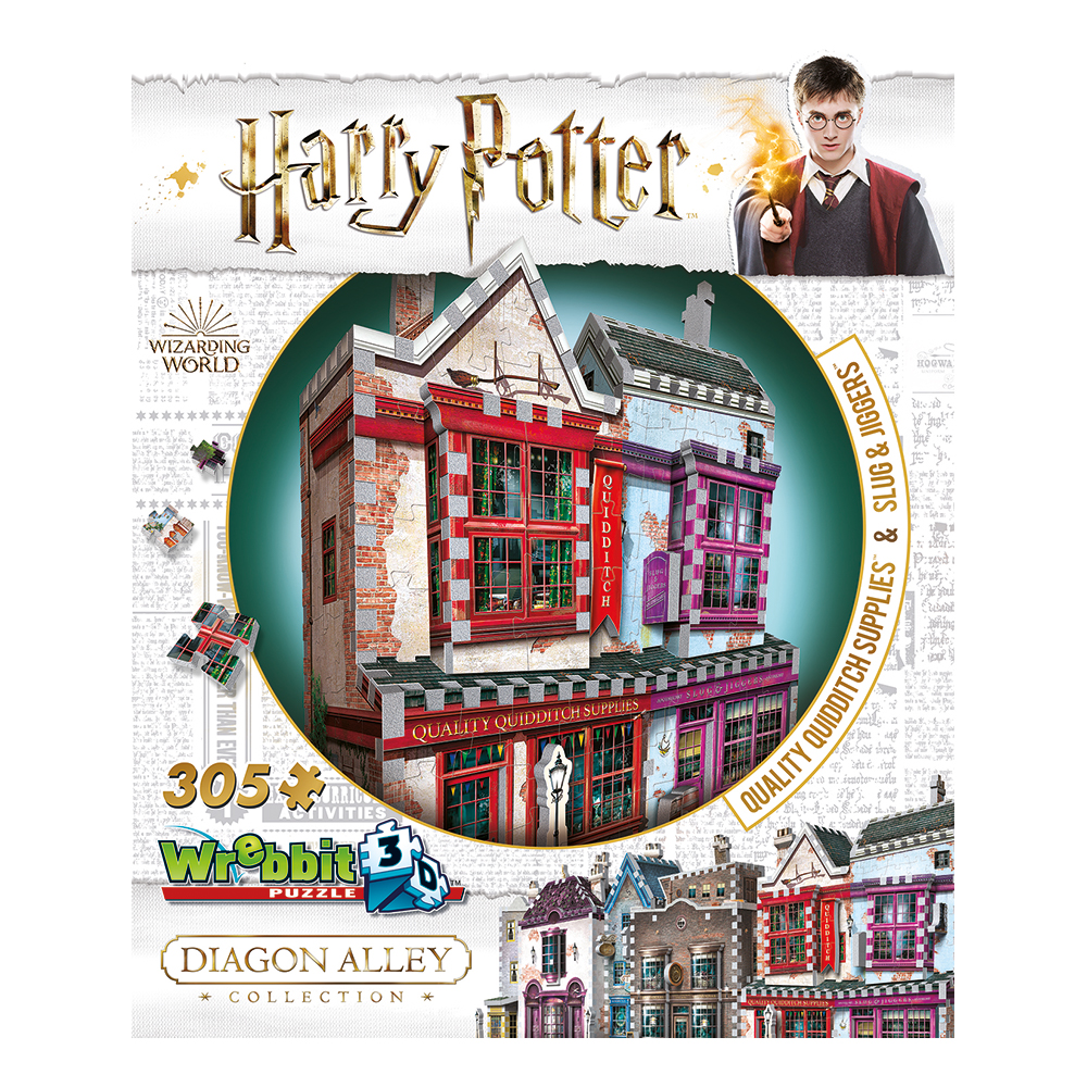 3D Pussel Harry Potter Quality Quidditch Supplies and Slug & Jiggers