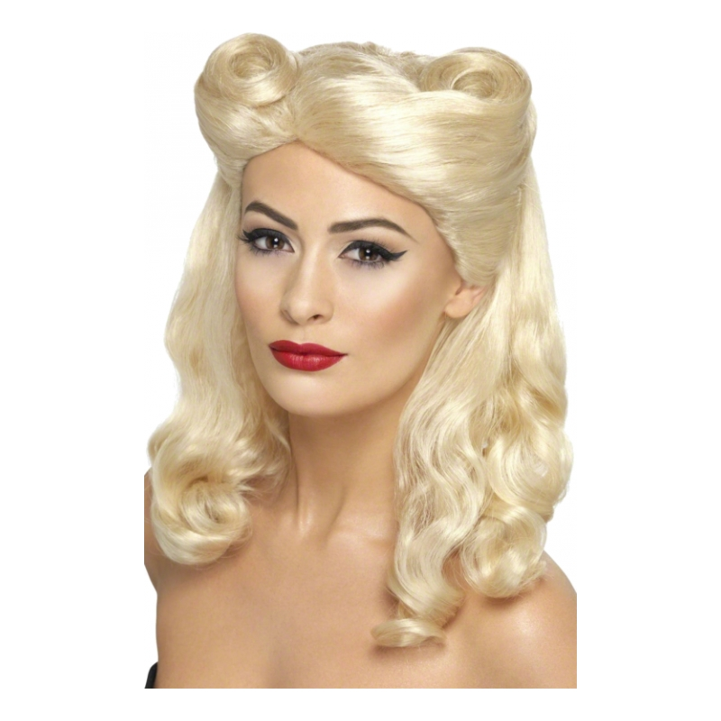 40-tals Pin-Up Blond Peruk - One size