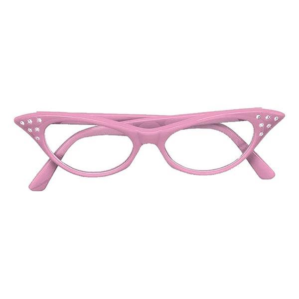 50-tals Glasögon - Rosa