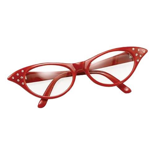 50-tals Glasögon - Röd