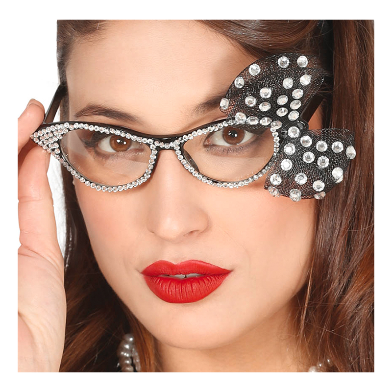50-tals Glasögon med Rosett